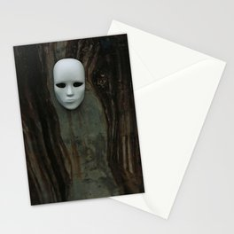 Mask on Weathered Wall Stationery Cards