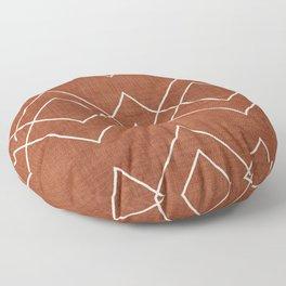 Nudo in Rust Floor Pillow