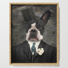 Sir Duncan - Boston Terrier Portrait Serving Tray