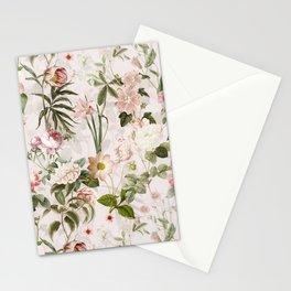 Vintage Summer Blush Botanical Rose Garden Stationery Cards