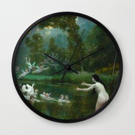 "Jean-Léon Gérôme ""Leda and the Swan"" Wall Clock"