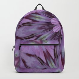 Floral Abstract Of Pink Hydrangea Flowers Backpack