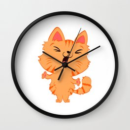 Perfect Gift for Cat Lovers A Persian Cat Tee T-shirt Design Kitty Kitten Meow Paws Animals Fur Cute Wall Clock
