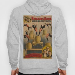 Vintage poster - Circus Acrobats Hoody