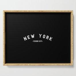 New York Techno City, for techno Djs. Serving Tray