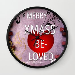 MERRY XMAS BELOVED Wall Clock