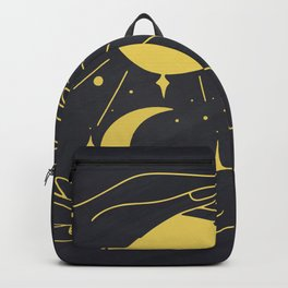 Moon Phases Print, Mystical Vector Clipart, Celestial And Mystery Symbol Backpack