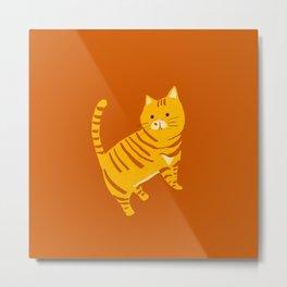 Orange Tabby Cat Metal Print