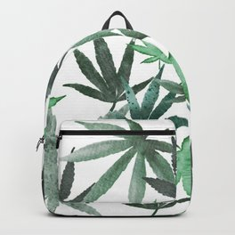 Watercolor Cannibis Neck Gaiter Pot Leaf Neck Gator Backpack
