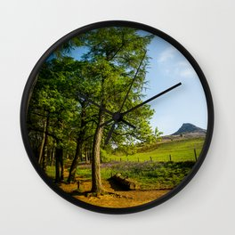Bluebells in May Wall Clock