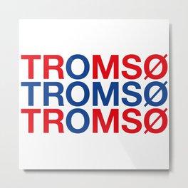 TROMSO Norwegian Flag Metal Print