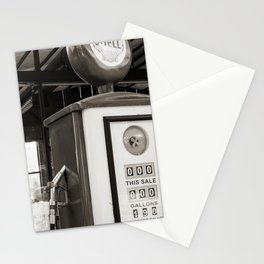 A vintage street in Texas black and white Stationery Cards