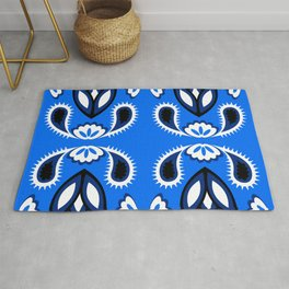 pattern with leaves and flowers paisley style Rug