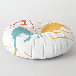 Retro Pop Art Kiwi Floor Pillow