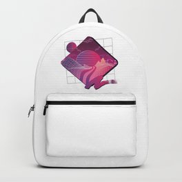 Retrowave Landscape -  Eighties Style Outrun Backpack