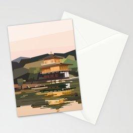 Geometric Kinkakuji, Golden Pavilion Kyoto Japan Stationery Cards