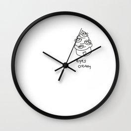 EYES CREAM. Wall Clock