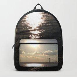 Verrazano Bridge Sunset Backpack