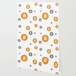 Ethereum and Bitcoin Pattern Wallpaper