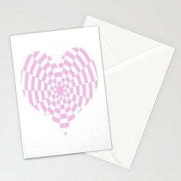 Monochrome Daze Pastel Pink Heart Stationery Cards