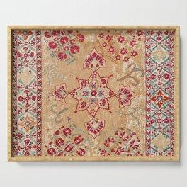 Bokhara Suzani Antique Uzbekistan Embroidery Print Serving Tray