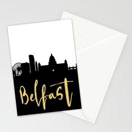 BELFAST NORTHERN IRELAND DESIGNER SILHOUETTE SKYLINE ART Stationery Cards