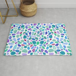 Scattered Sea Glass Pattern Rug