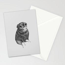 Sweet Black Pug Stationery Cards