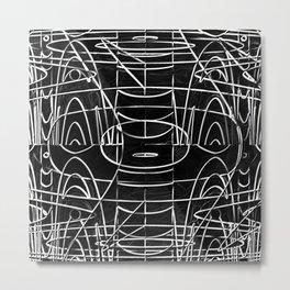 Monochrome Wires Metal Print