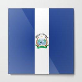 Flag of Abidjan Metal Print
