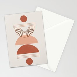 Geometric Modern Shapes, Art Stationery Cards
