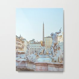 Piazza Navona - Rome Italy Photography Metal Print