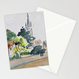 Camille Pissarro - All Saints' Church, Beulah Hill - Digital Remastered Edition Stationery Cards