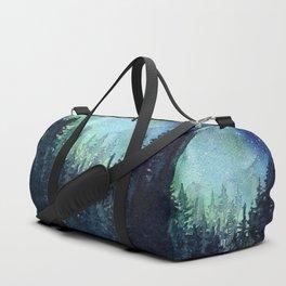 Galaxy Watercolor Aurora Borealis Painting Sporttaschen