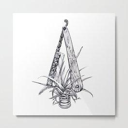 Bromeliad Barber Metal Print