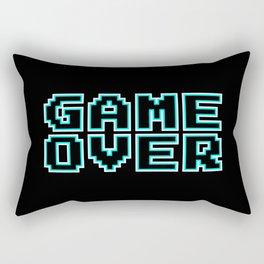 GAME OVER (blue) Rectangular Pillow