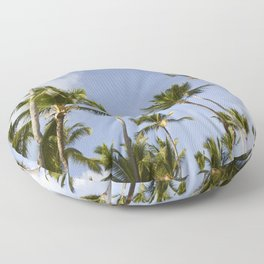 Palmy Blue. Floor Pillow
