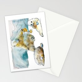 Polar Tea Party Stationery Cards