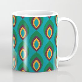 Peacock feather Teal #homedecor #midcenturydecor Coffee Mug