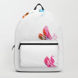 Colorful Graphic Pattern Dragonfly T-Shirt Backpack
