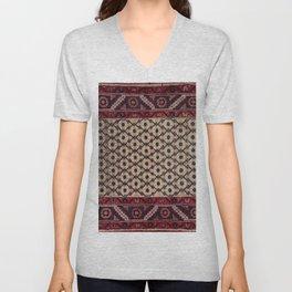 magenta persian carpet  Unisex V-Neck