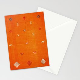 Boho Oriental Orange Traditional Desert Moroccan Style  Stationery Cards