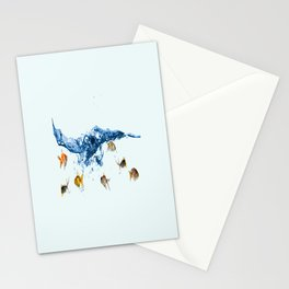 Keep swiming Stationery Cards