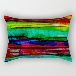 colorful bohemian pattern Rectangular Pillow