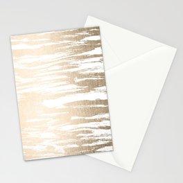 White Gold Sands Paintbrush Stationery Cards