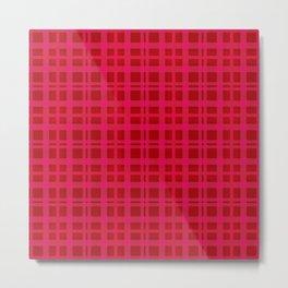 Tartan - Pink Rust Orange Metal Print