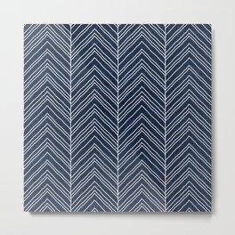 Strand in Navy Metal Print