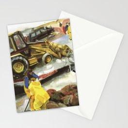 Blue whale on Second Beach, dissection with back-hoe, No. 1 - Middletown Stationery Cards