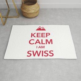 KEEP CALM I AM SWISS Rug