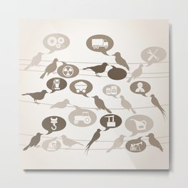 Birds about the industry Metal Print